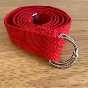 LF Red XL D-Ring Tape Belt